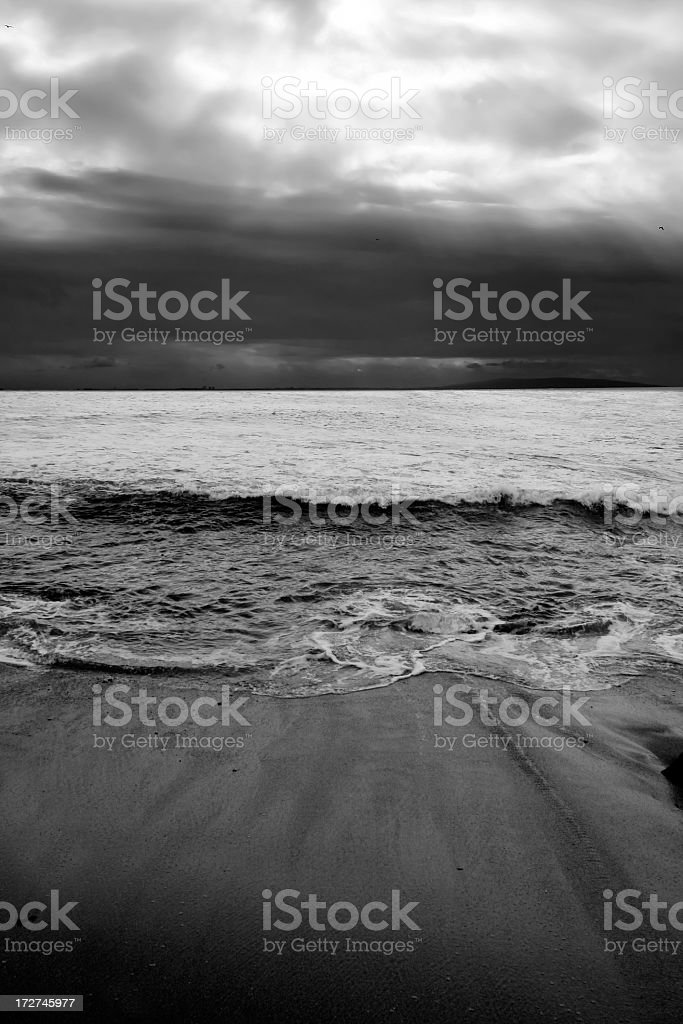 Black & White Ocean royalty-free stock photo