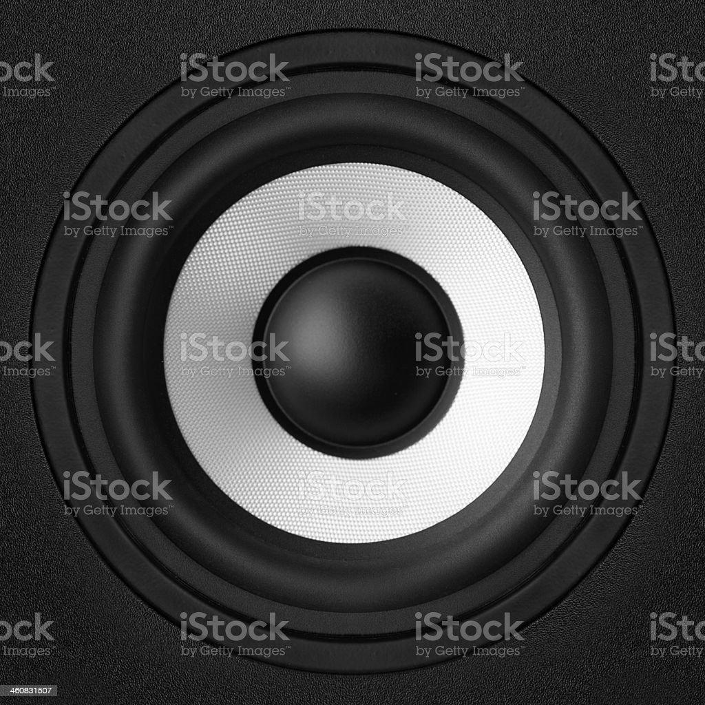 black & white speaker royalty-free stock photo