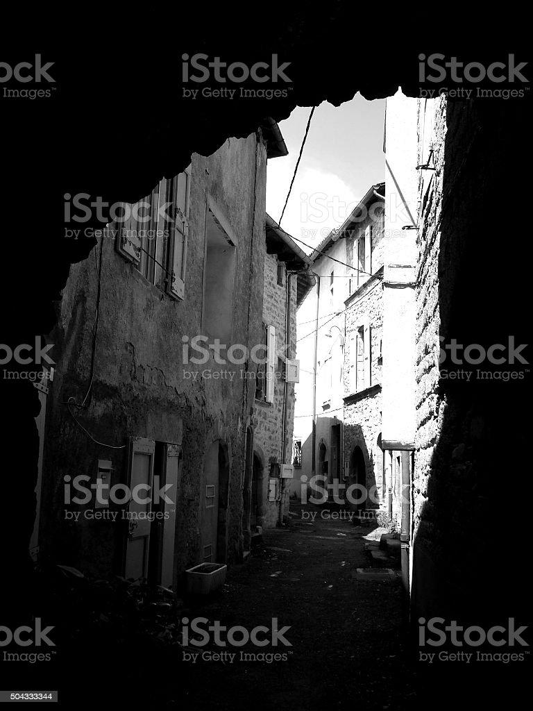 Black & White Townscape 004 stock photo