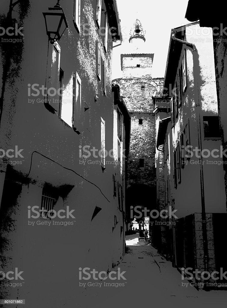 Black & White Townscape 005 stock photo