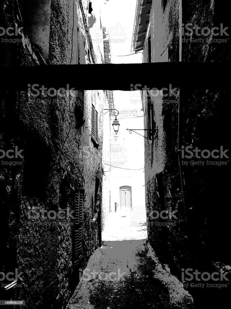 Black & White Townscape 009 stock photo