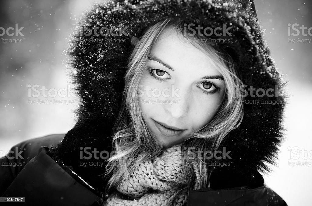 Black & White Winter stock photo