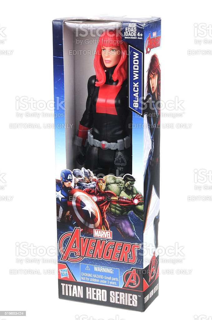 Black Widow Action Figure stock photo