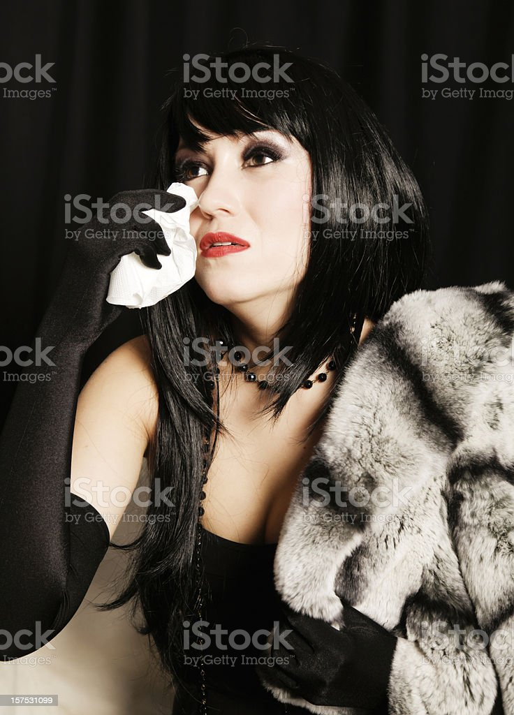 Black widow mourning stock photo