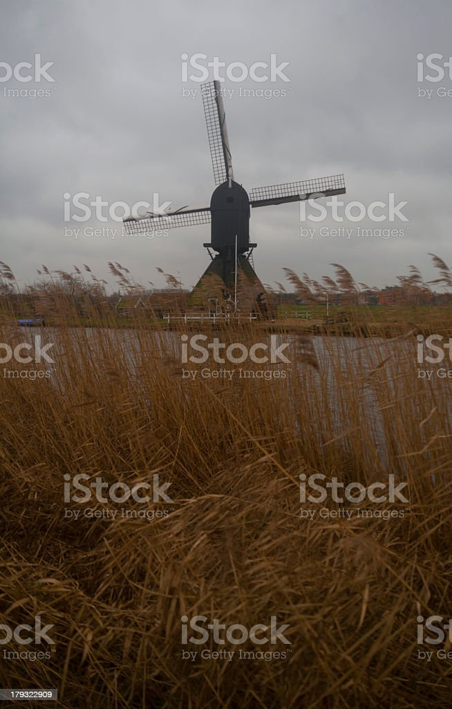 Black Windmill stock photo
