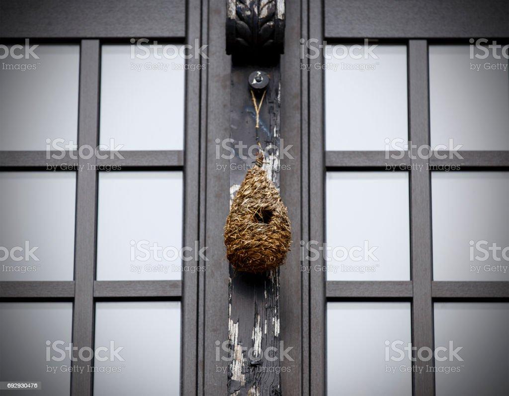 black window,hondarribia-spain stock photo