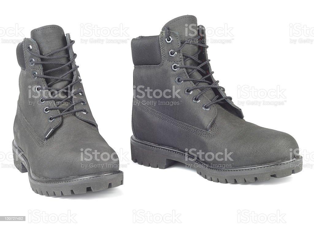 Black Winter Boots stock photo