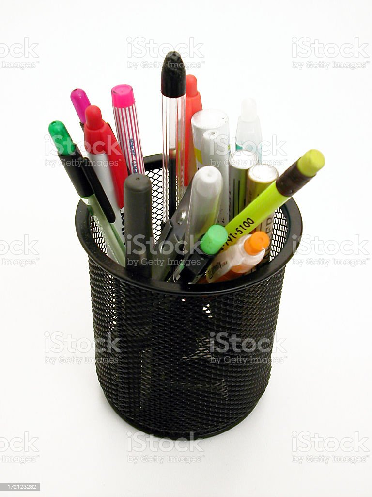 black wire cup of stuff 02 royalty-free stock photo