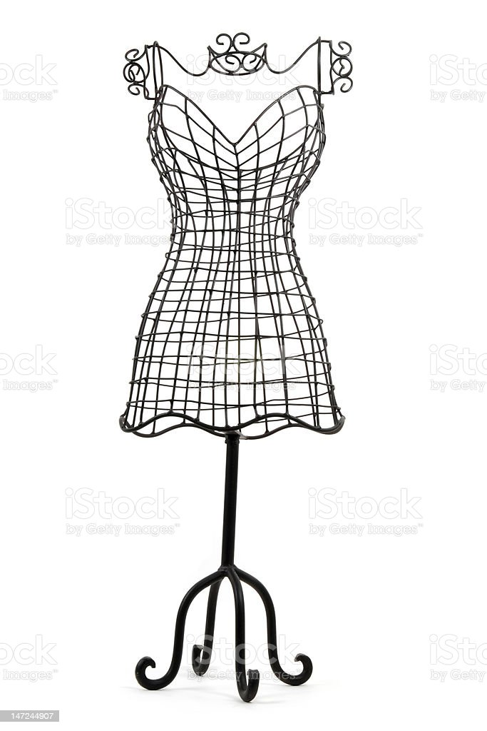 Black wire form mannequin for designers royalty-free stock photo