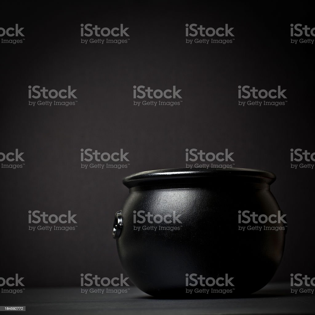 Black Witch's Pot stock photo
