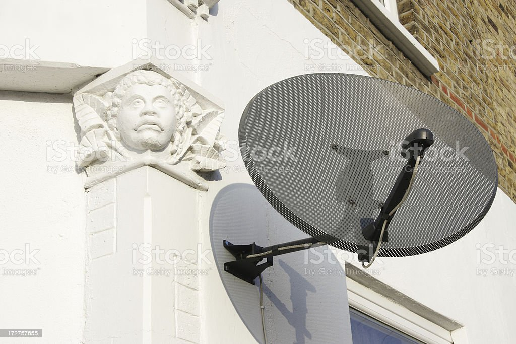 Remnants of British Empire with satellite dish stock photo