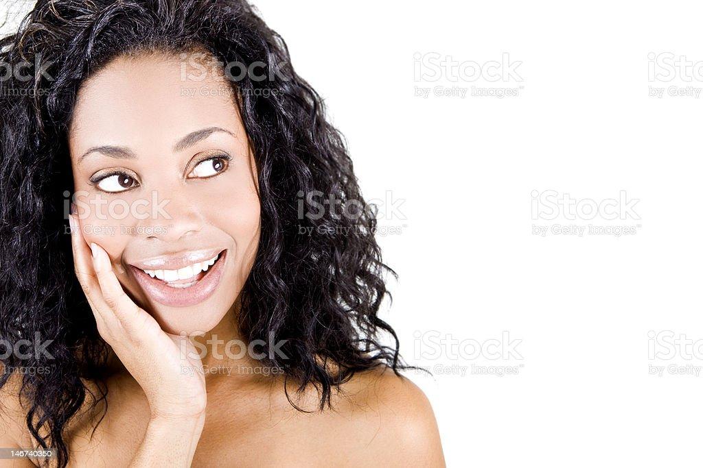 Mujer negra foto de stock libre de derechos