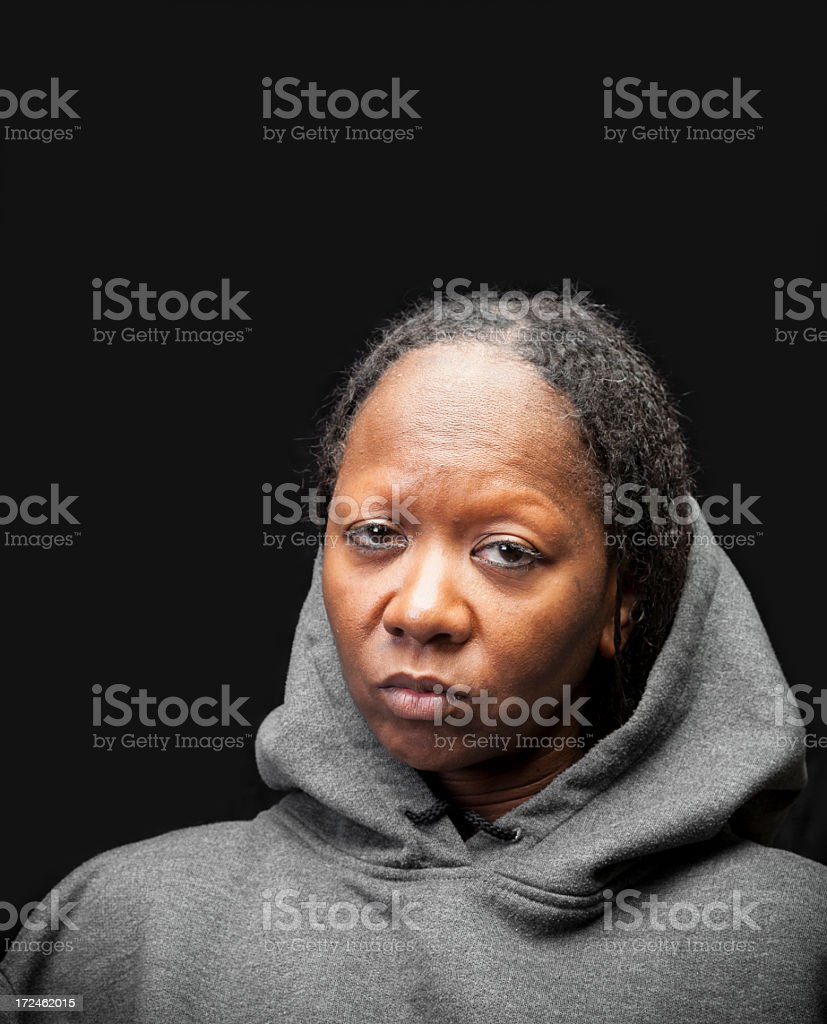 Black Woman Portrait royalty-free stock photo