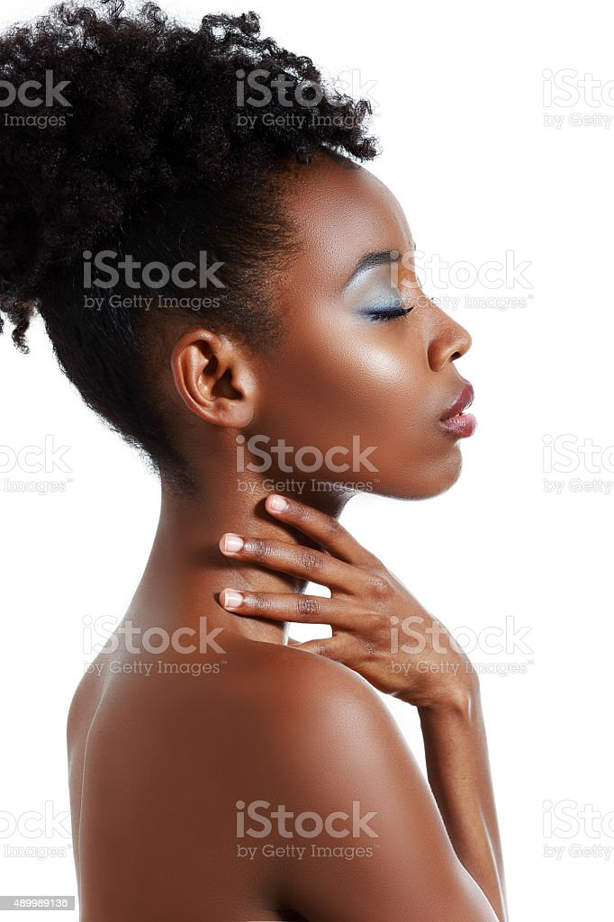 black woman posing stock photo