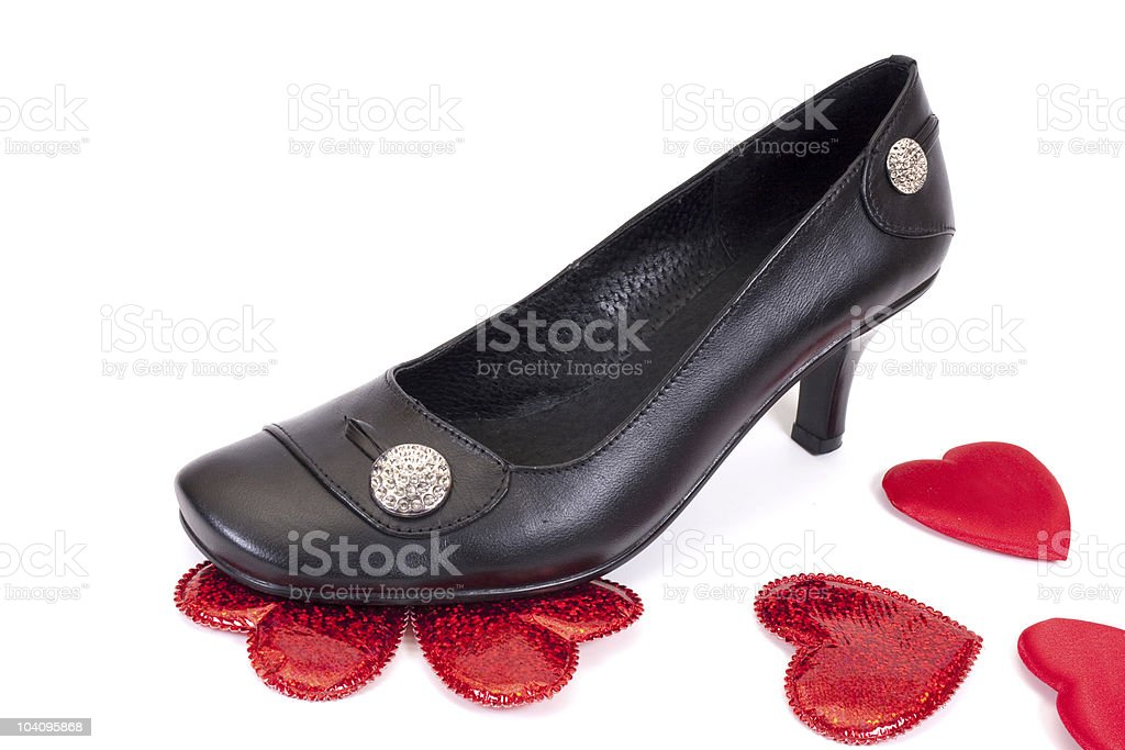 Black womans shoes royalty-free stock photo