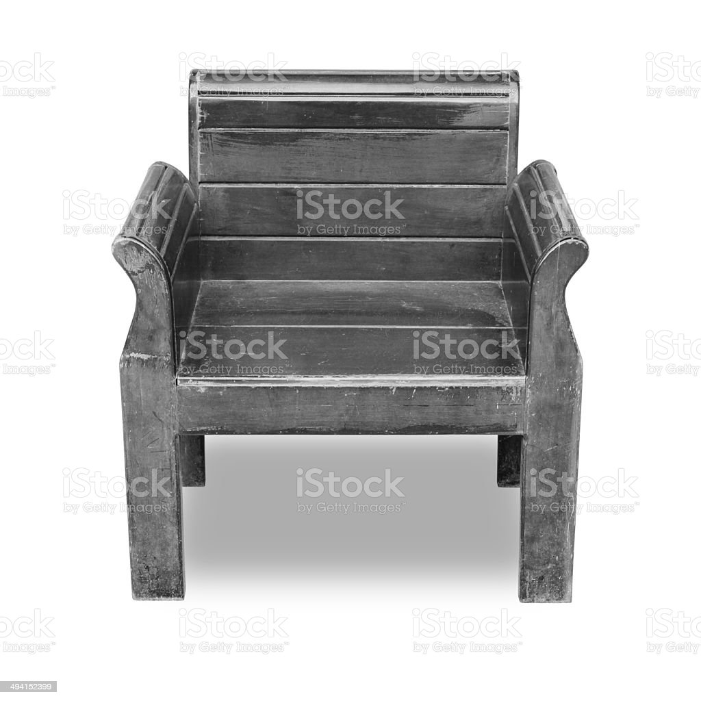 Black wooden chair stock photo