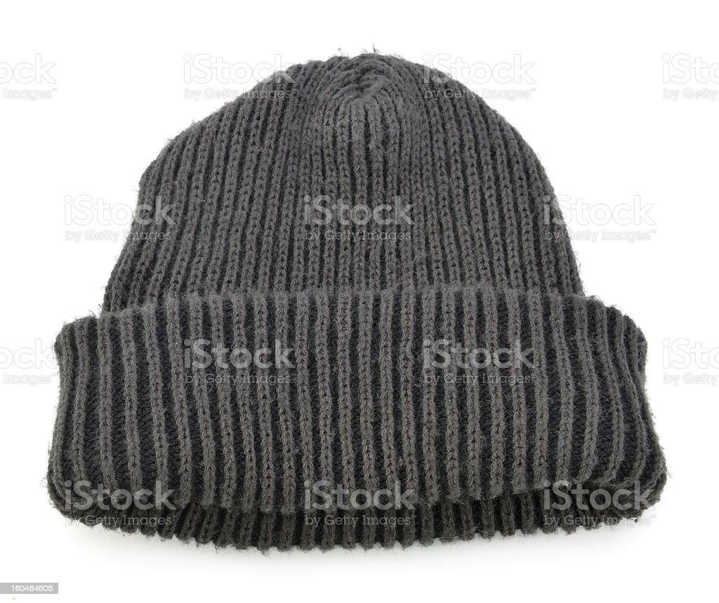 Black Wool Beanie stock photo