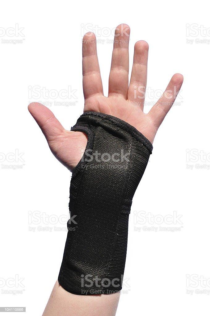 Black Wrist Brace stock photo