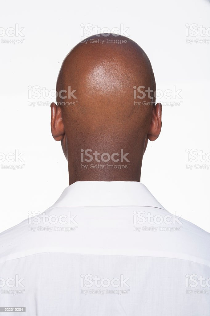 Black young man back of head stock photo