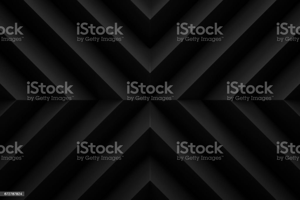 black zig zag layout  background 3d render stock photo