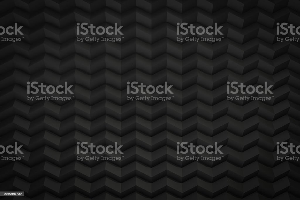 black zig zag saw background with copy space 3d render stock photo