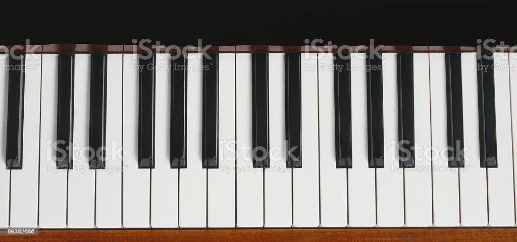 Black-and-white standard piano keys  stock photo