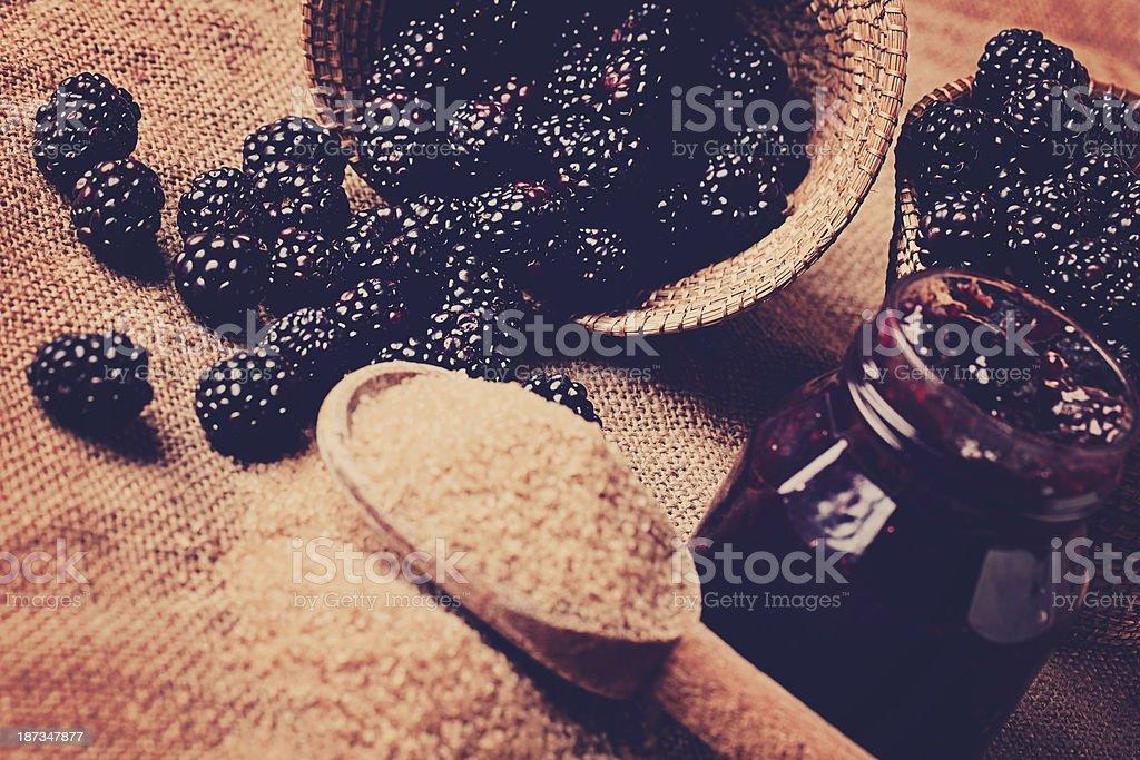 Blackberries & Brown Sugar royalty-free stock photo