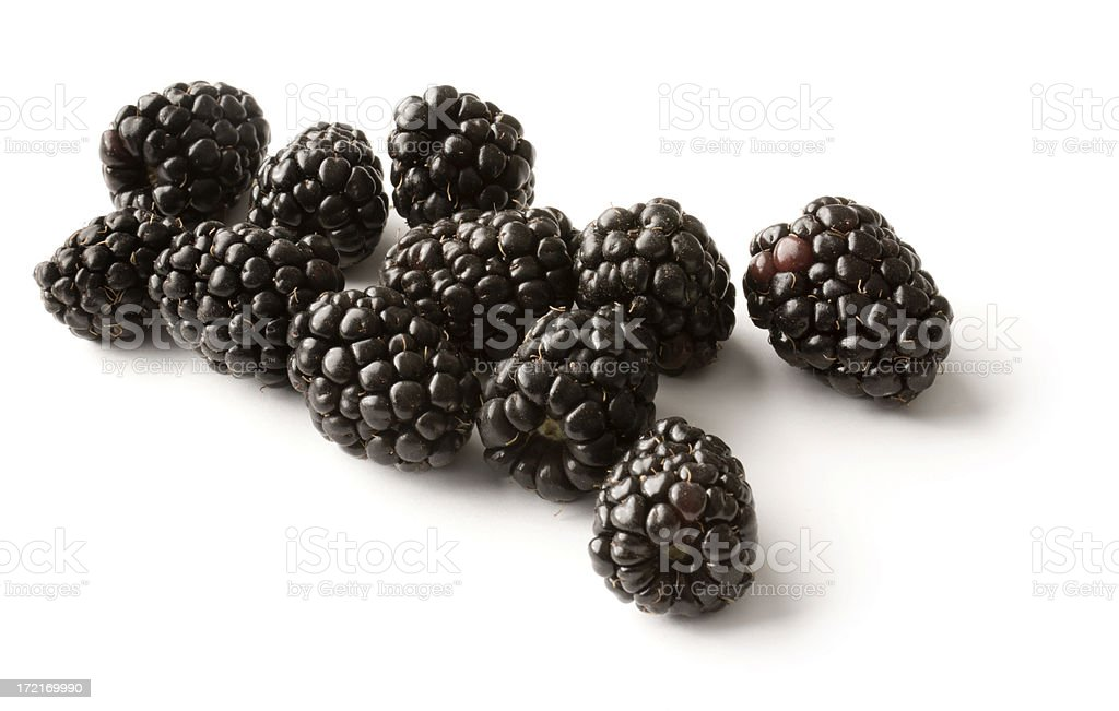 Blackberries Isolated royalty-free stock photo