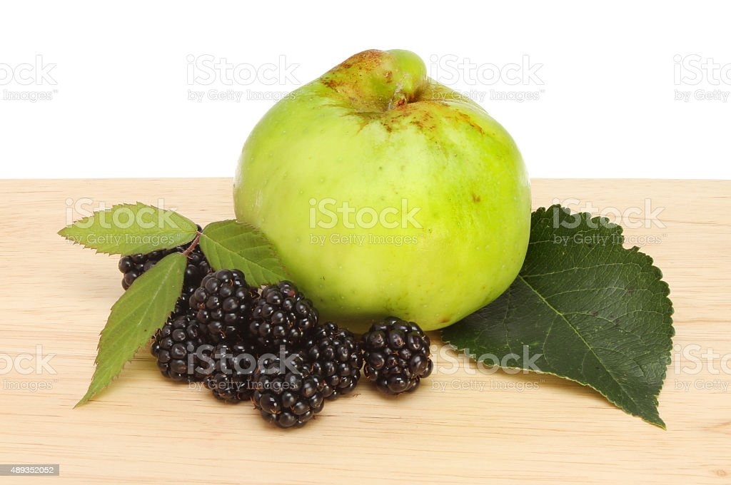 Blackberry and apple stock photo