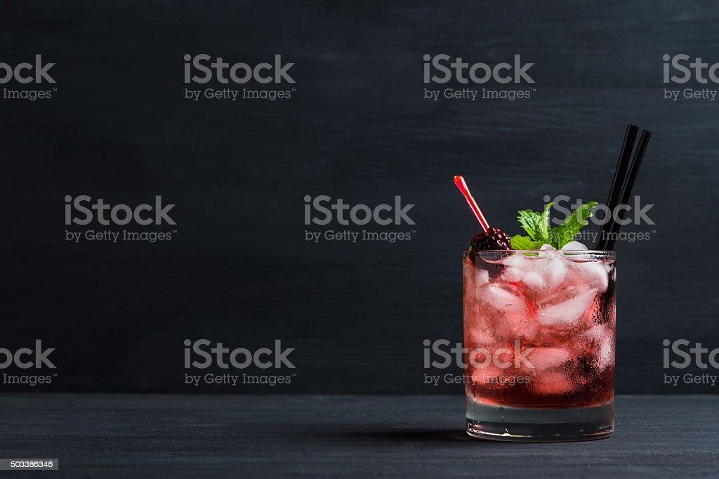 Blackberry cocktail stock photo