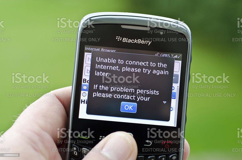 Blackberry crash royalty-free stock photo