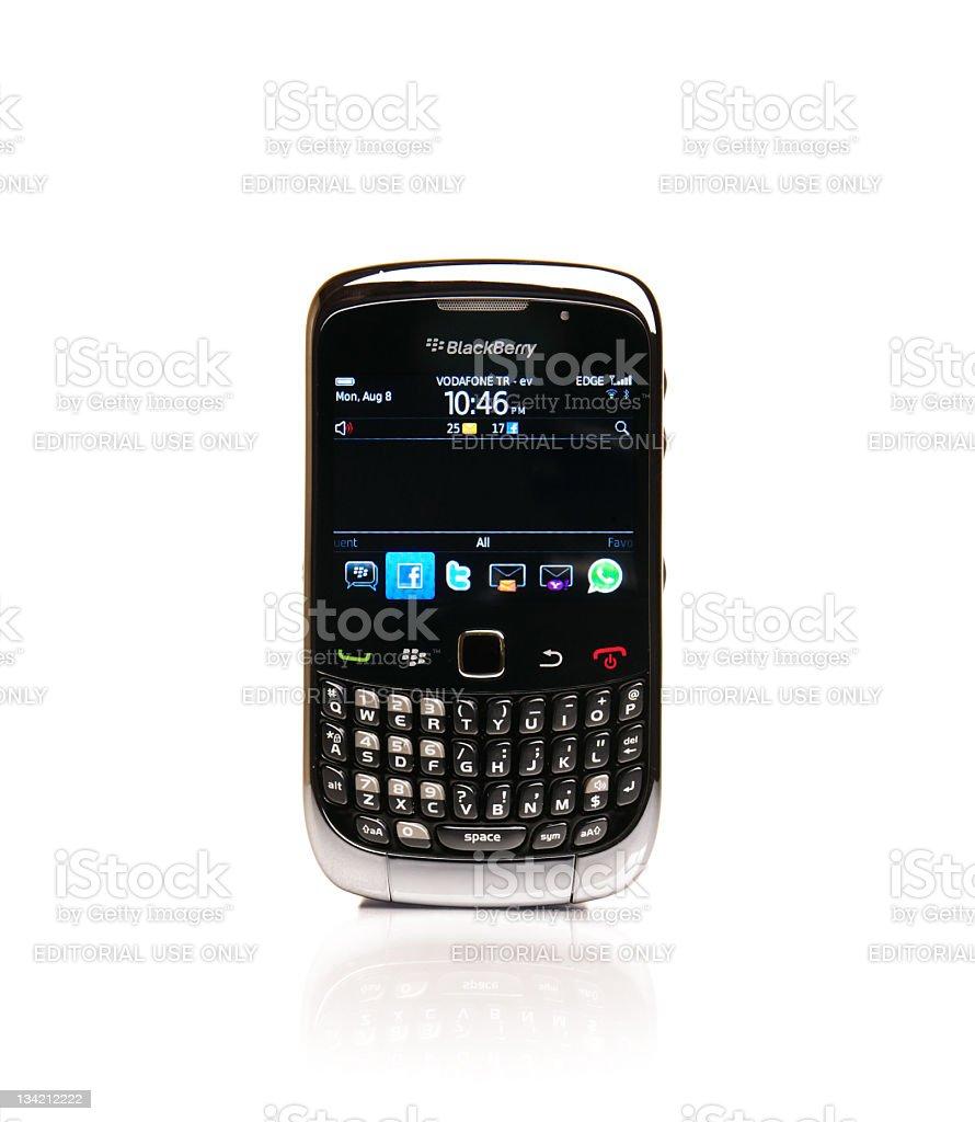 Blackberry Curve 3G 9300 stock photo