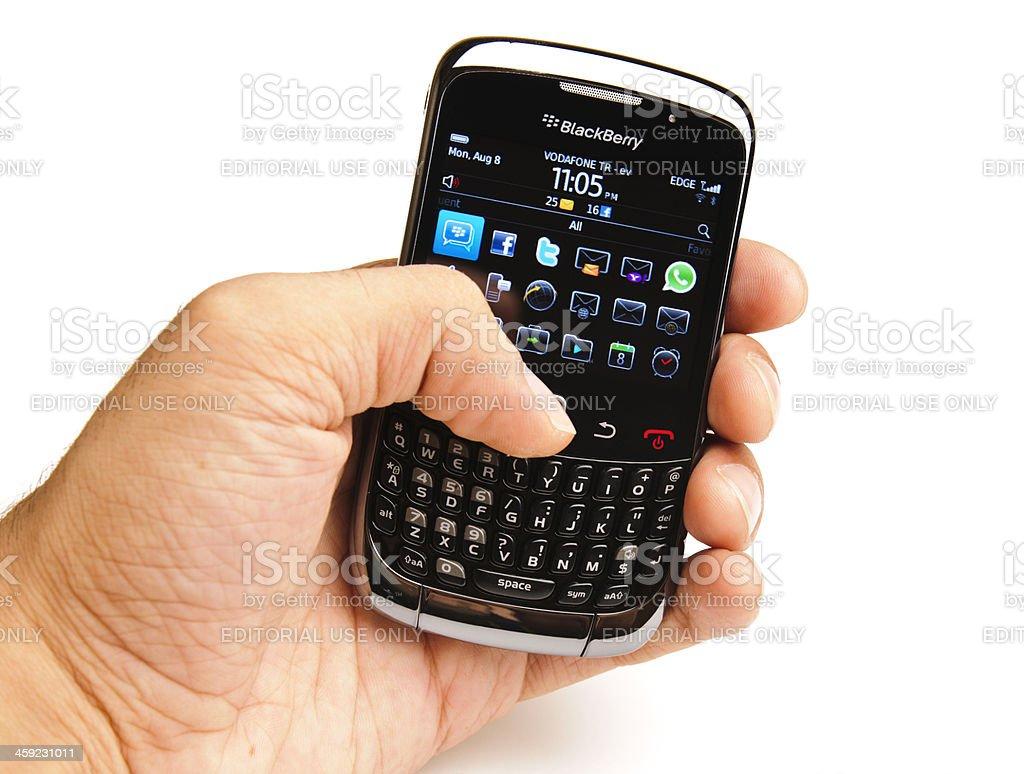 Blackberry Curve 3G 9300 royalty-free stock photo