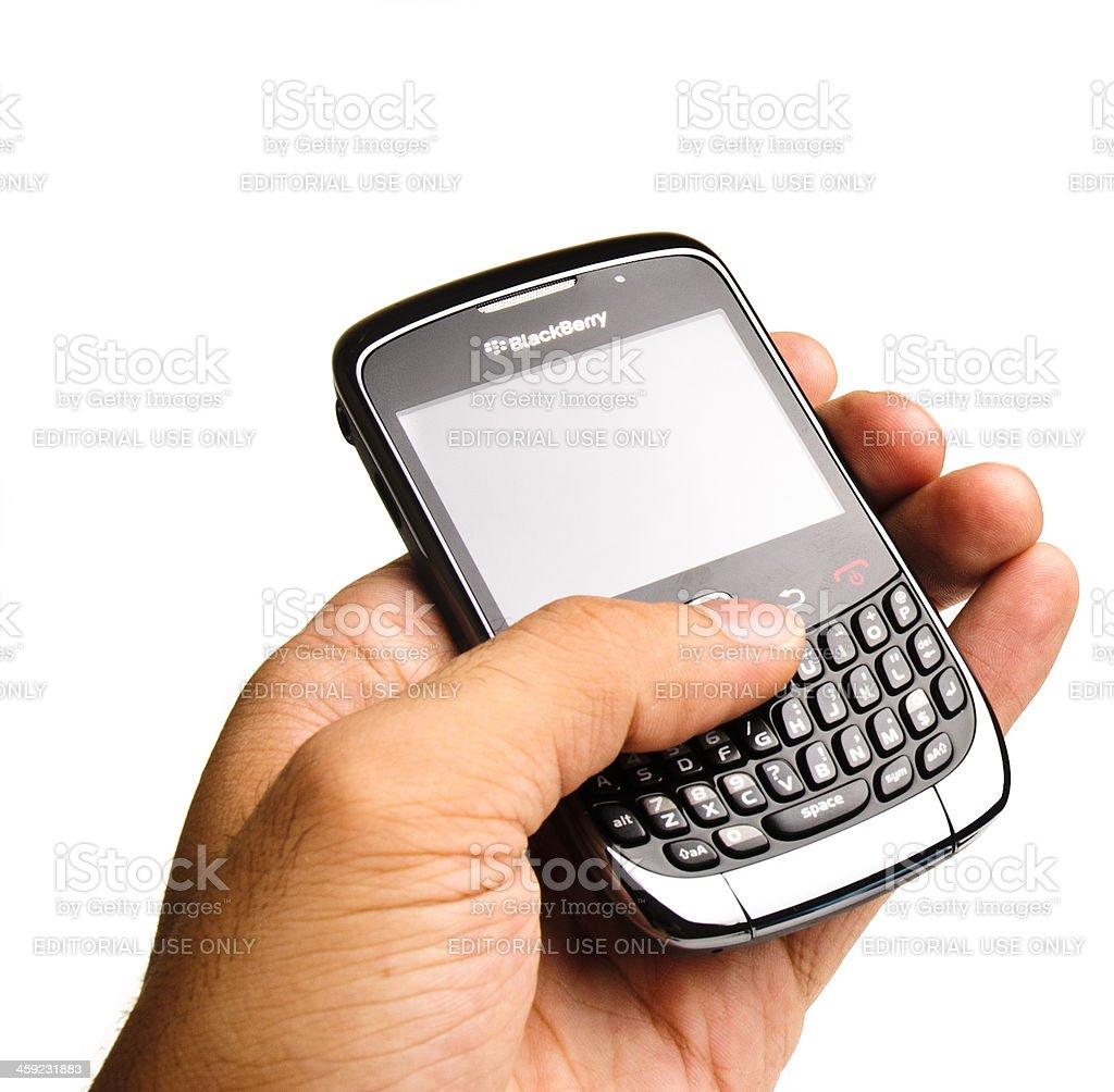 Blackberry Curve 3G 9300 royalty-free stock photo