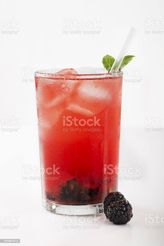 Blackberry Iced Tea stock photo