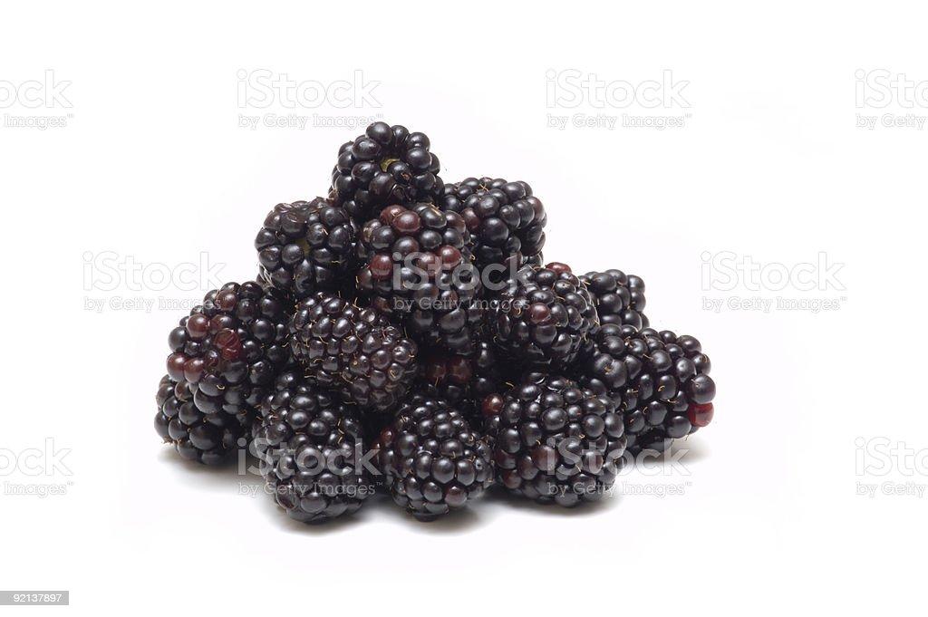 blackberry on white background royalty-free stock photo