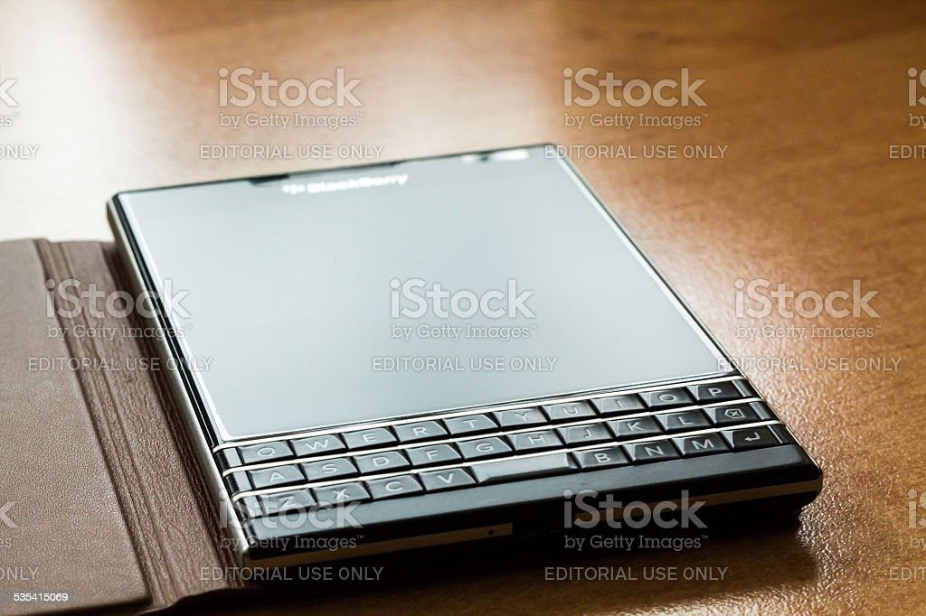 BlackBerry Passport Q30 stock photo