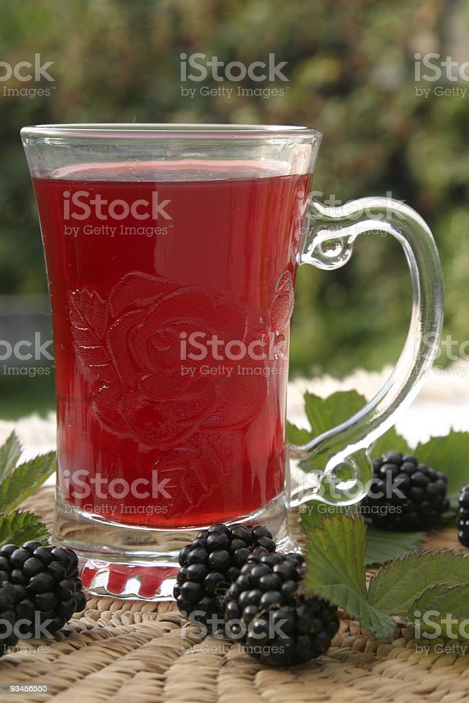 Blackberry tea stock photo