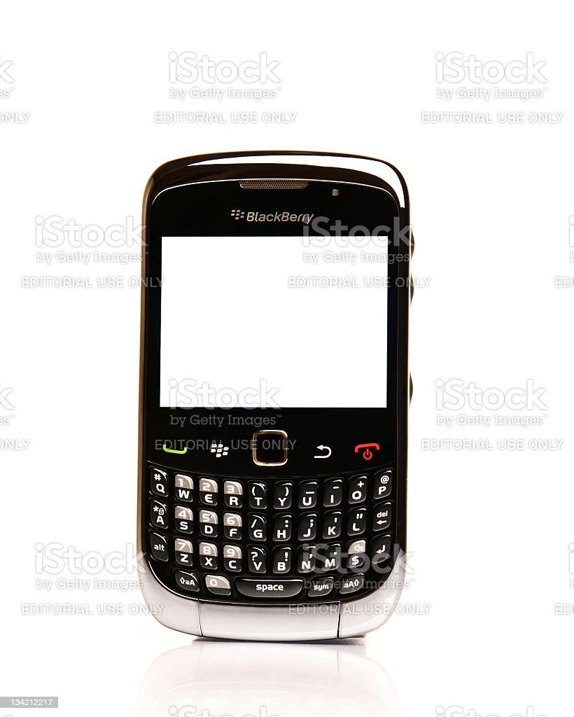 Blackberry with a Blank Screen stock photo