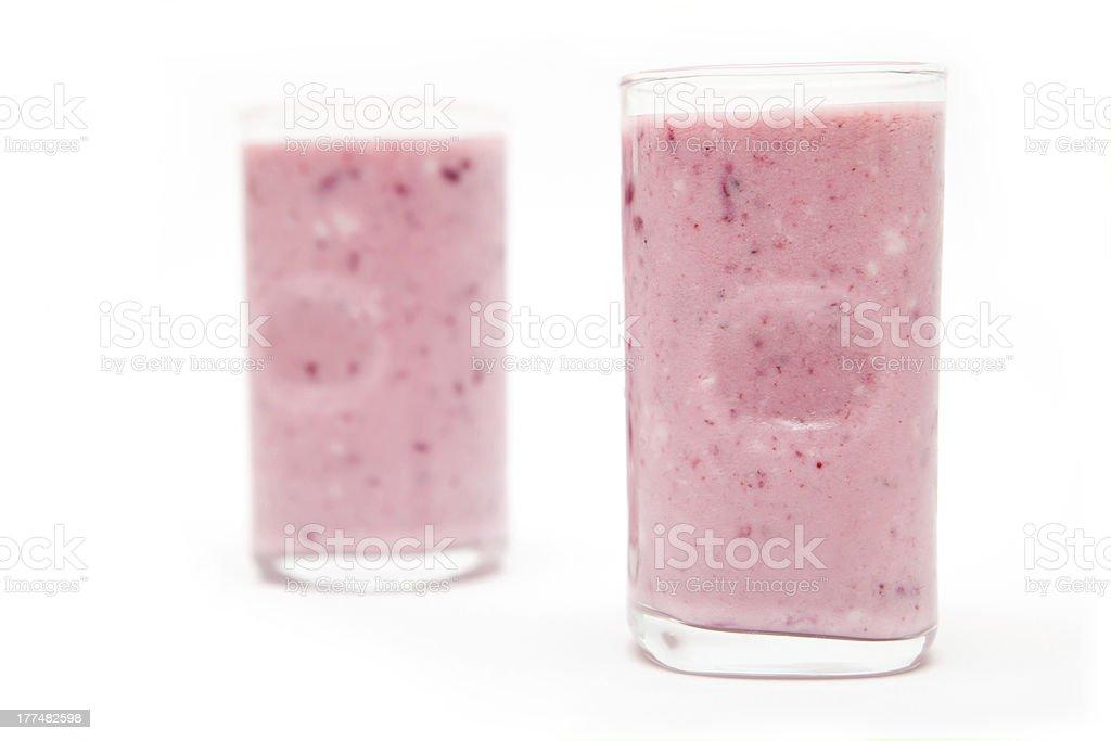 Blackberry Yogurt royalty-free stock photo