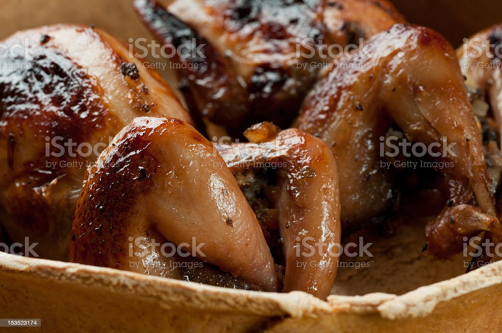blackbird baked in a pie stock photo