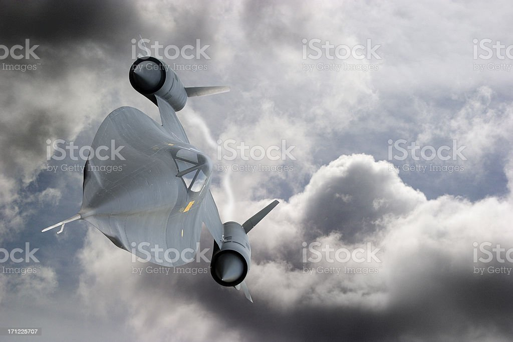 Blackbird in Flight royalty-free stock photo