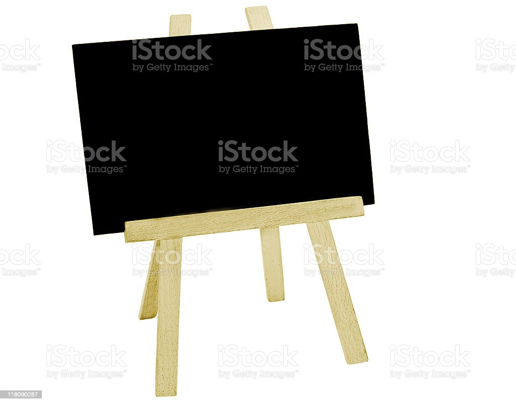 Blackboard and Easel stock photo