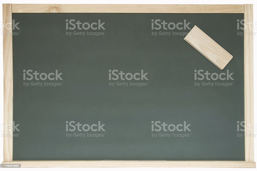 Blackboard and eraser royalty-free stock photo