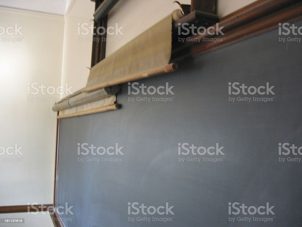Blackboard and Maps royalty-free stock photo