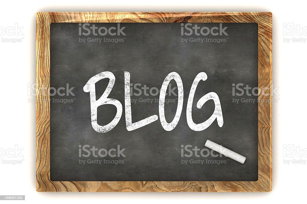 Blackboard BLOG stock photo