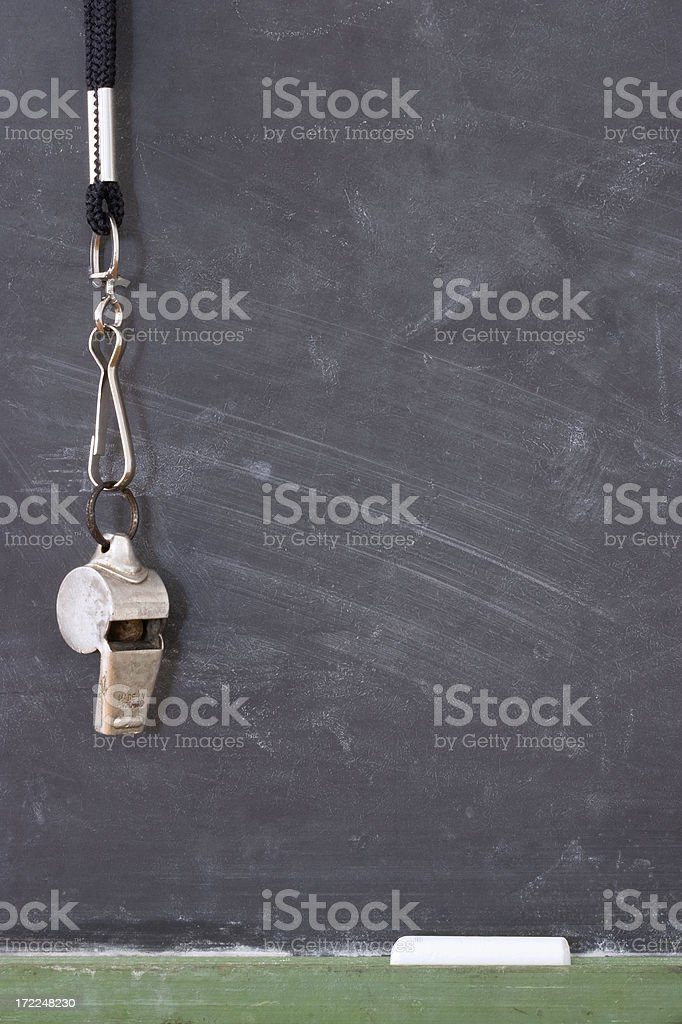 Blackboard Coach II royalty-free stock photo