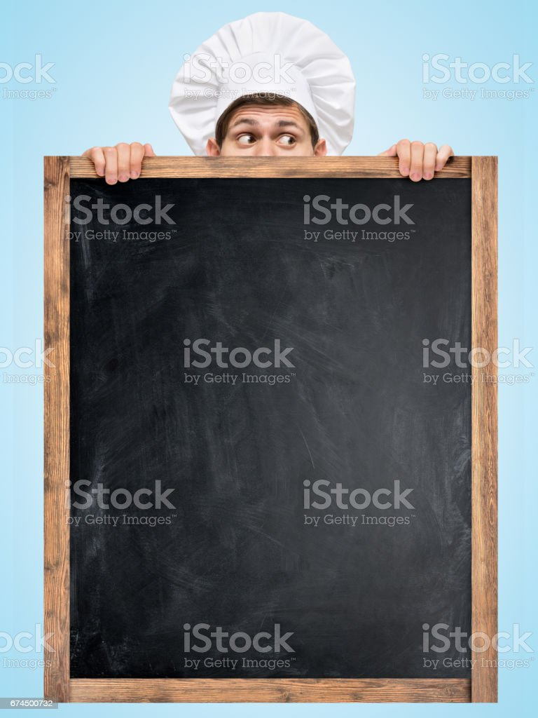 Blackboard for menu. stock photo