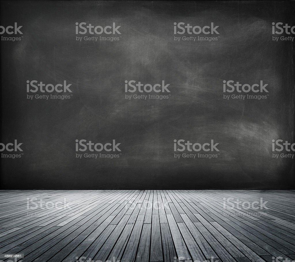 Blackboard in an Empty Room stock photo