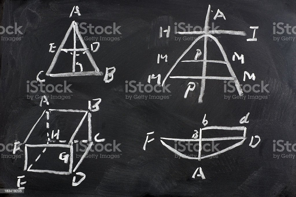 Blackboard Mathematics Design formula 02 royalty-free stock photo